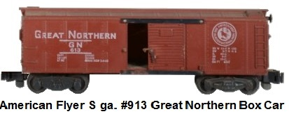 American Flyer S gauge #913 Great Northern Box Car