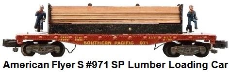 American Flyer S gauge #971 Southern Pacific lumber unloading car