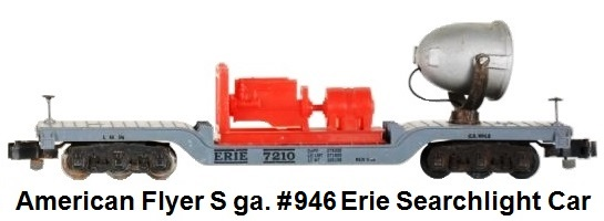 American Flyer S gauge #946 Erie Searchlight Car