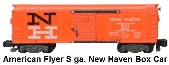American Flyer 'S' gauge #24036 New Haven boxcar