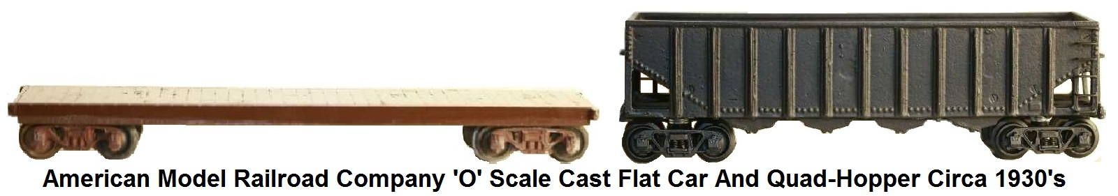 Ed Alexander/American Model Railroads Company 'O' scale cast flat car
