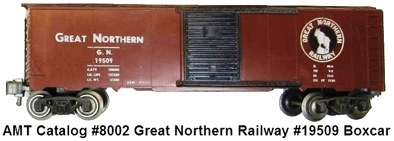 AMT American Model Toys 'O' gauge Great Northern Railway #19509 Boxcar