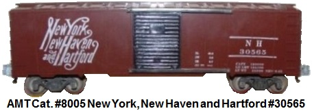 AMT American Model Toys 'O' gauge catalog #8005 New York New Haven and Hartford boxcar