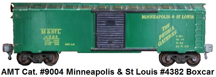 AMT American Model Toys 'O' gauge Minneapolis & St Louis #4382 boxcar AMT catalog #9004