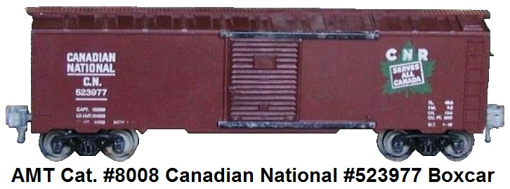 AMT American Model Toys 'O' gauge catalog #8008 Canadian Pacific #523977 boxcar