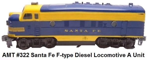 Auburn Model Toys #322 Santa Fe F-type Diesel A unit in 'O' gauge