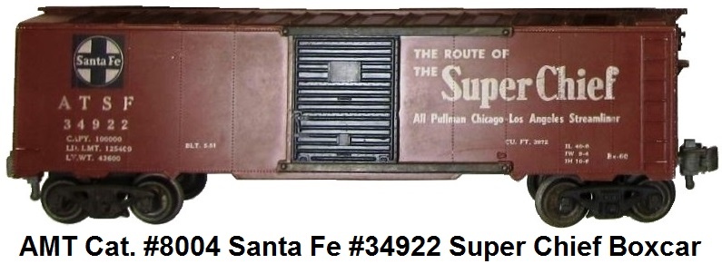 AMT American Model Toys #34922 Santa Fe Super Chief box car in 'O' gauge