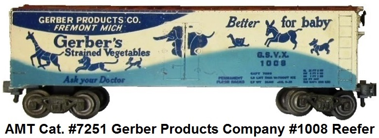 AMT catalog #7251 Gerber Products Company #1008 refrigerator car