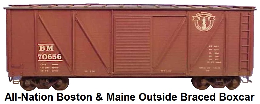 All-Nation Kit #6504 'O' scale Boston & Maine 50' Outside Braced Box car