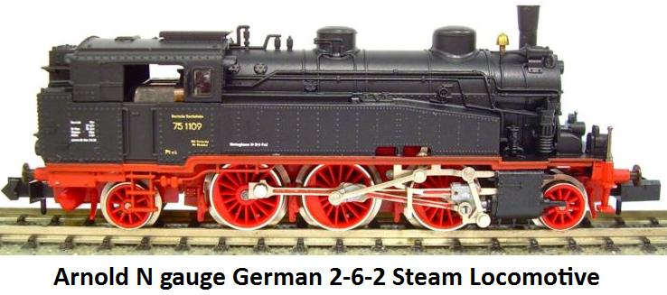 Arnold 0155 N gauge German 2-6-2 Steam Locomotive