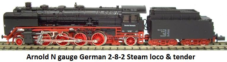 Arnold 2512 German 2-8-2 Steam Loco in N gauge