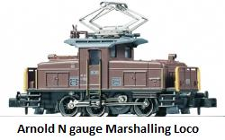 Arnold Electric marshalling locomotive, SBB series Ee 3-3 HN2013 in N gauge