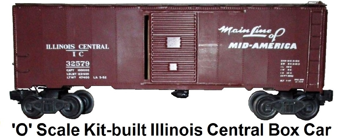 Athearn 'O' scale Kit-built Illinois Central Box Car