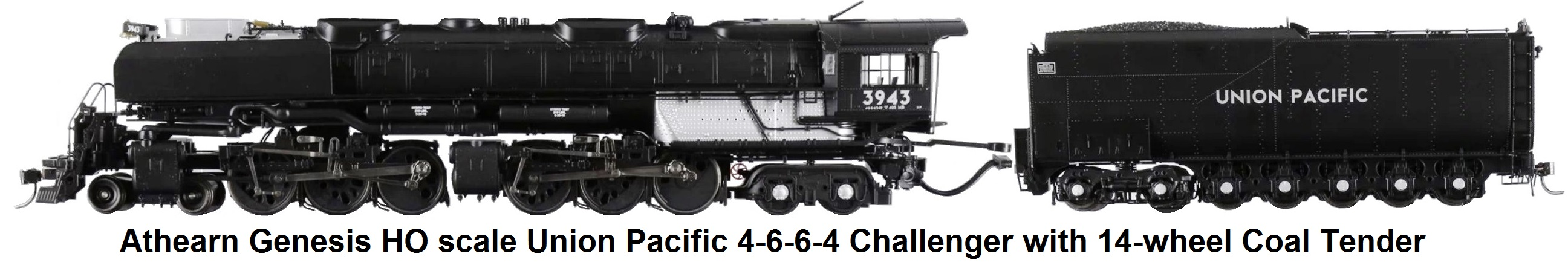 Athearn Union Pacific HO Genesis #3943 4-6-6-4 Challenger