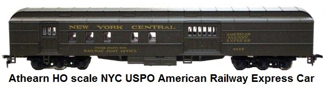 Athearn HO scale NYC RPO car