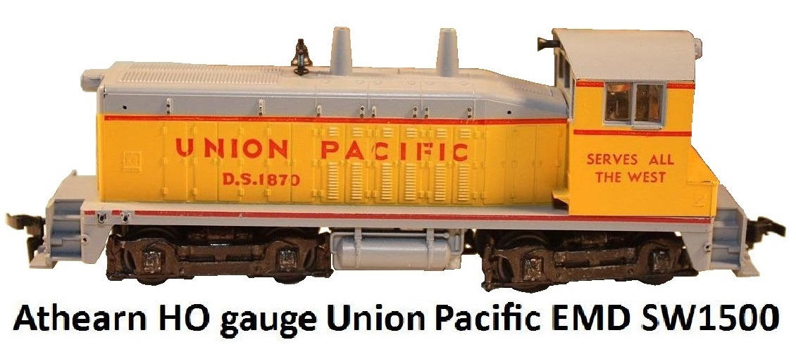 Athearn HO gauge EMD SW1500 in Union Pacific livery