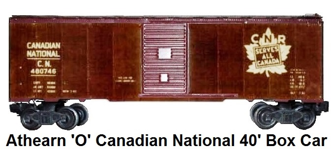 Athearn 'O' scale kit-built 2-rail Canadian National Railway 40' Box Car
