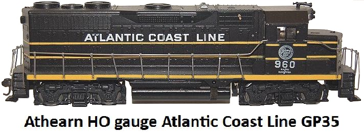 Athearn HO gauge Atlantic Coast Line GP35