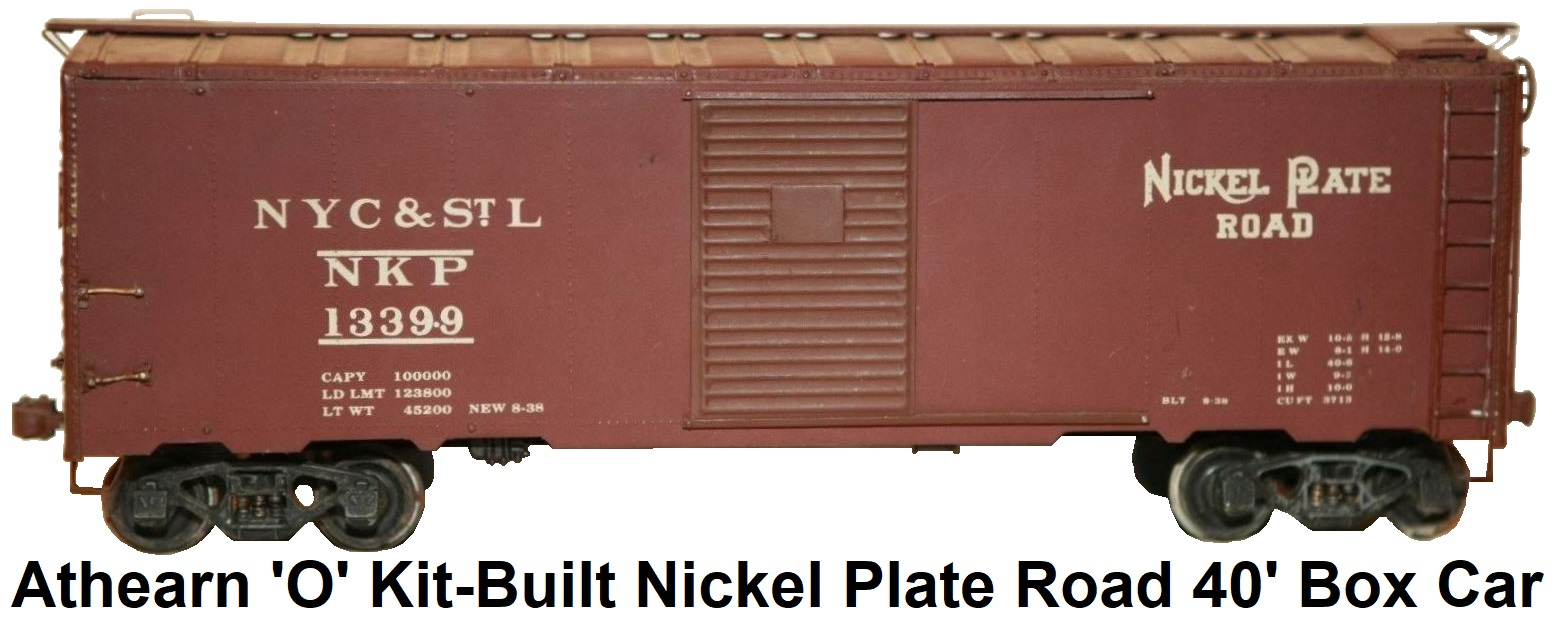 Athearn 'O' scale Kit-built 2-rail Nickel Plate Road 40' Box Car