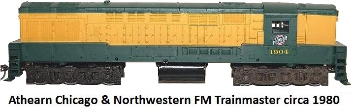 Athearn HO gauge Chicago & Northwestern FM Trainmaster circa 1980