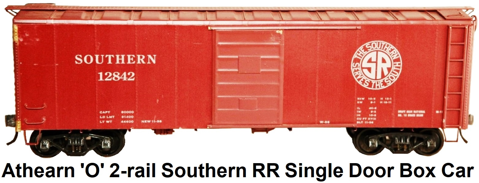 Athearn 'O' scale Kit-built 2-rail Southern RR Single door 40' steel box car