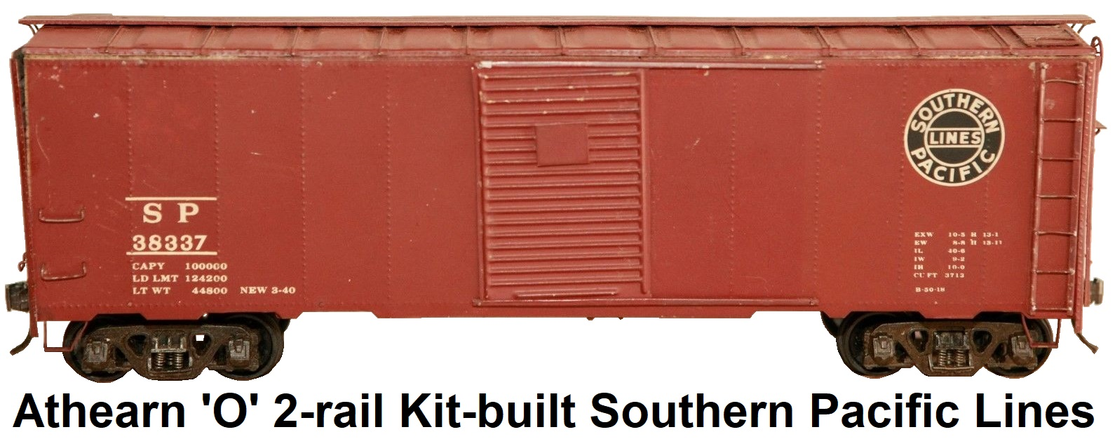 Athearn 'O' scale Kit-built 2-rail Southern Pacific Lines Single door 40' steel box car