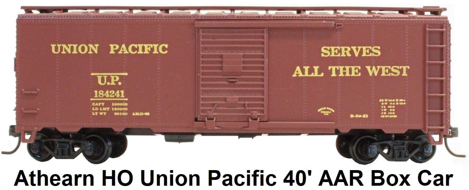 Athearn HO gauge Union Pacific 40' Steel Box Car
