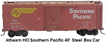 Athearn HO gauge Southern Pacific 40' Steel Box Car