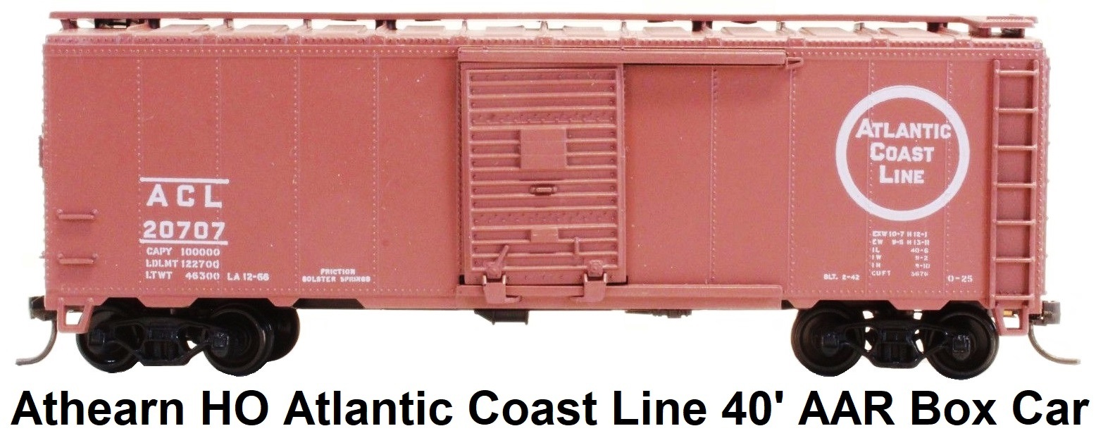 Athearn HO gauge Atlantic Coast Line 40' AAR Box Car