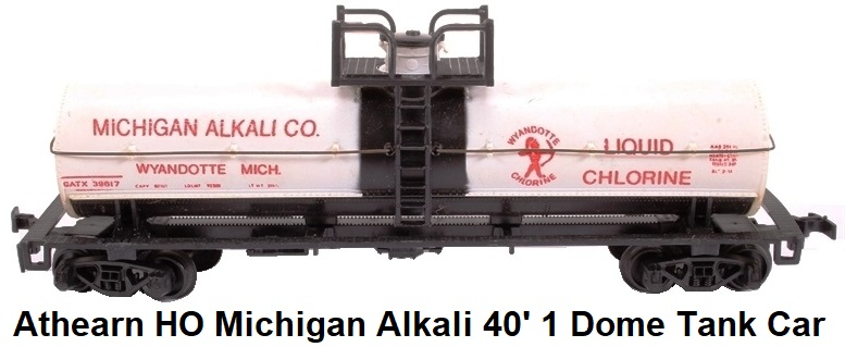 Athearn HO gauge 'Michigan Alkali' 1551ATH-U 40'Single Dome Tank Car