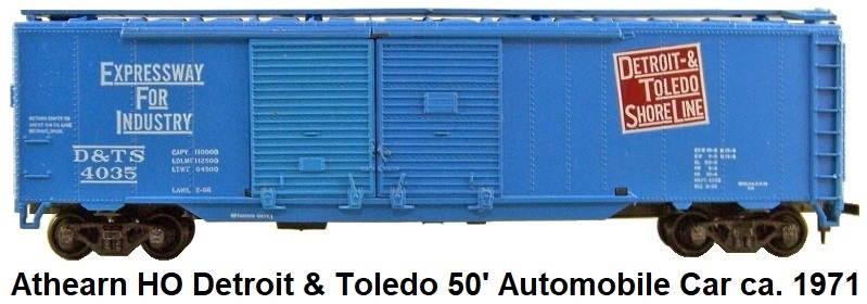 Athearn HO gauge 50 foot Double-Door Automobile Car circa 1971