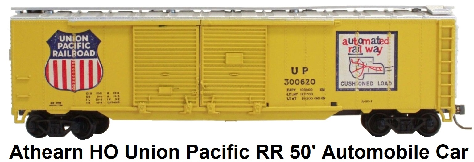 Athearn HO gauge 50' Union Pacific Double-Door Automobile Car
