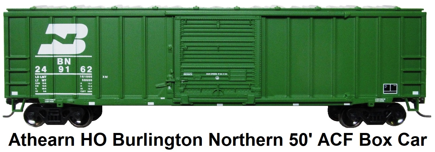 Athearn HO gauge 7060 Burlington Northern #249162 50' ACF Box Car