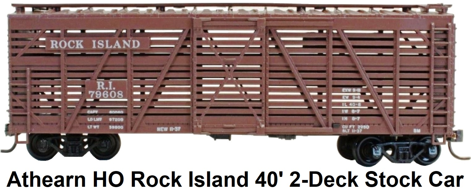 Athearn HO gauge Rock Island 40' Double Deck Stock Car