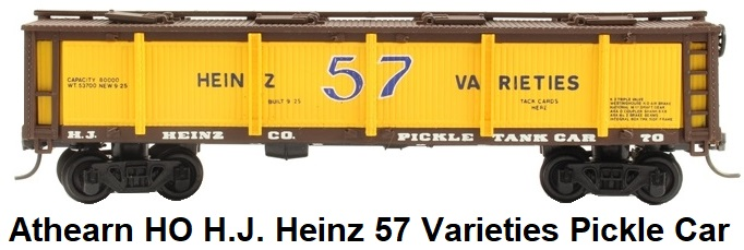 Athearn HO gauge H.J. Heinz 57 Varieties Pickle car