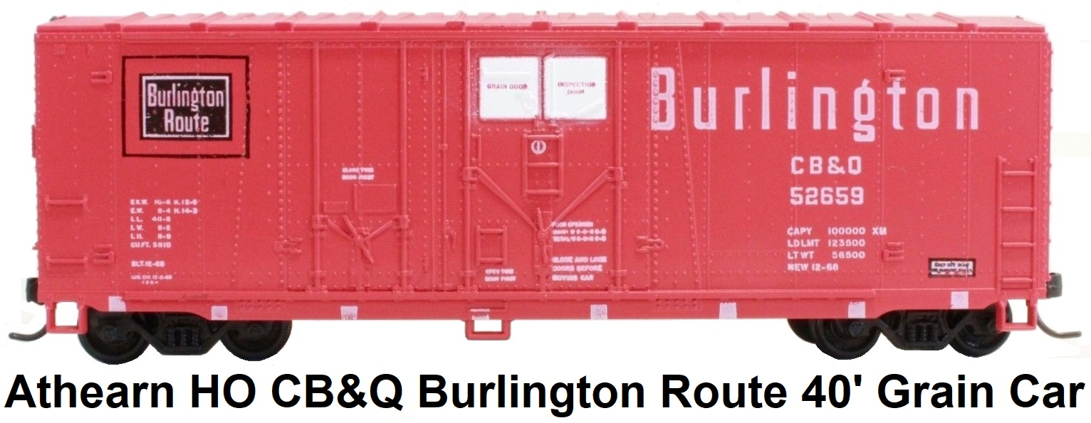 Athearn HO gauge Burlington Route 40' Grain Car CB&Q