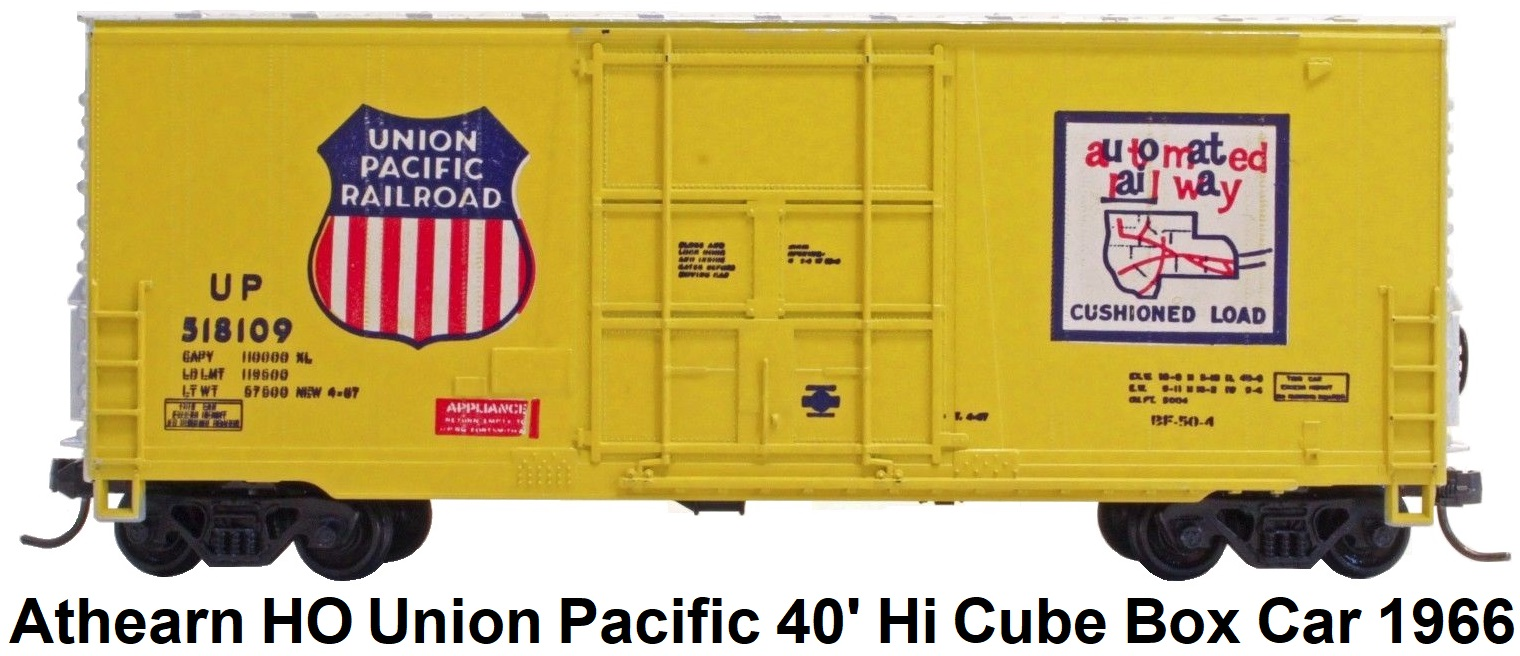 Athearn HO gauge Union Pacific 40' Hi Cube Box Car circa 1966