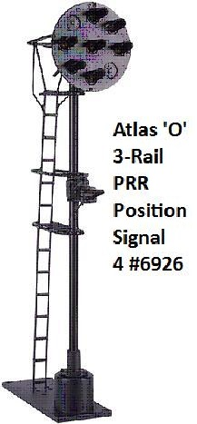 Atlas O 3-Rail PRR Position Signal 4 #6926