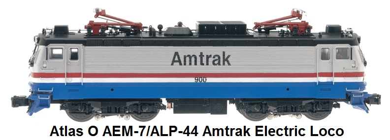 Atlas 'O' Amtrak AEM-7/ALP-44 Electric Locomotive