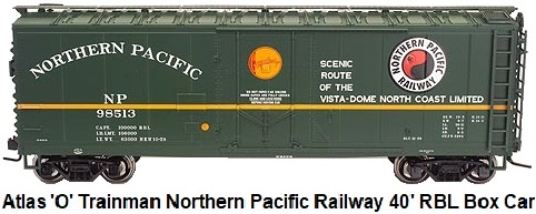 Atlas 'O' #0528 Trainman® Northern Pacific Railway 40' RBL class insulated Box car made 2005