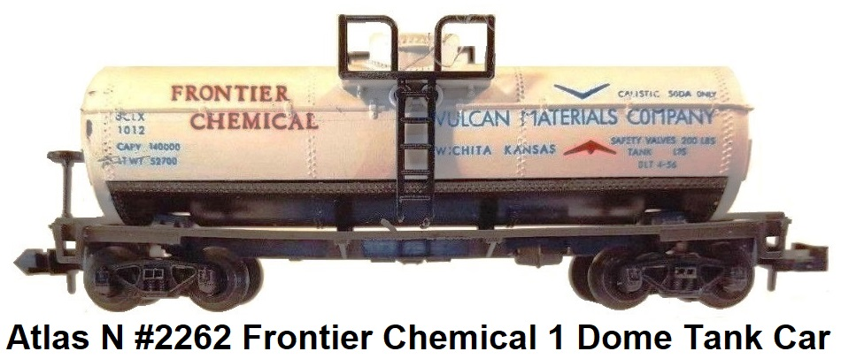 Atlas N scale #2262 Frontier Chemical 1 Dome Tank Car