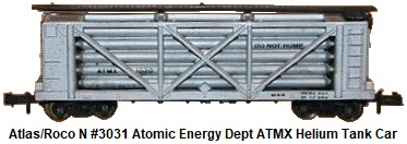 Atlas N #3031 Atomic Energy Dept ATMX Helium Tank Car by Roco