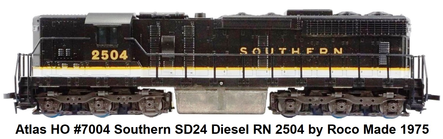 Atlas HO #7004 Southern SD24 Diesel Locomotive RN 2504 1975 release made by Roco