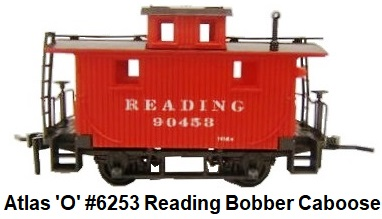 Atlas O Gauge 4-Wheel Caboose #6253 Reading circa 1975