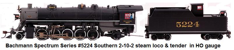 Bachmann Spectrum series 2-10-2 DCC Loco & tender in HO gauge