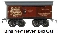 Bing 'O' gauge #32001 New Haven boxcar