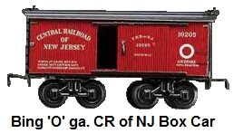 Bing 'O' gauge Central Railroad of New Jersey Box Car