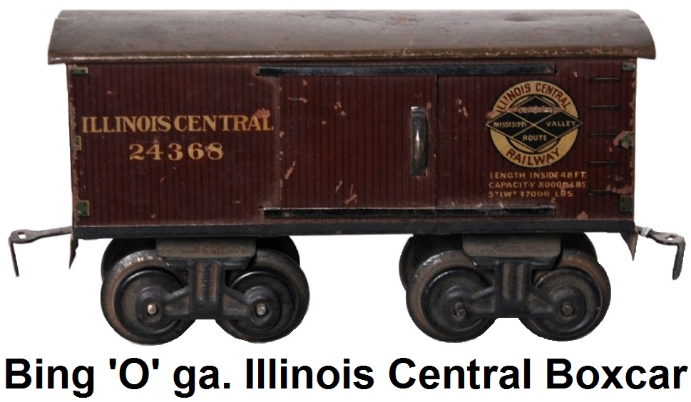 Bing 'O' gauge Illinois Central #24368 boxcar