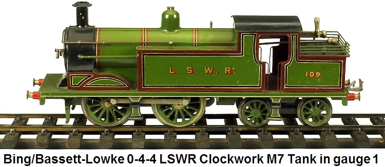 Bing for Bassett-Lowke LSWR Clockwork M7 Tank Engine in 1 gauge