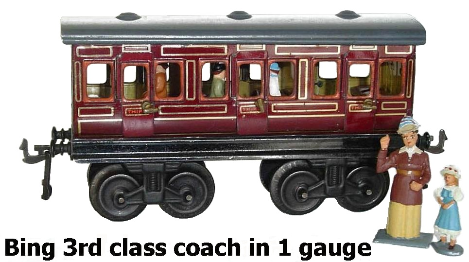 Bing 3rd class coach in 1 gauge